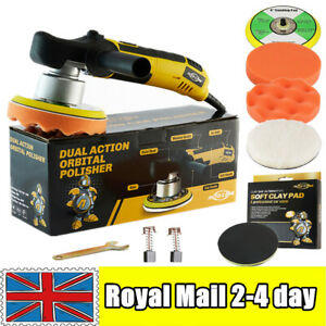 Dual Action Car Polisher Orbital Buffer Polishing Machine Waxing Tool Clay Pads