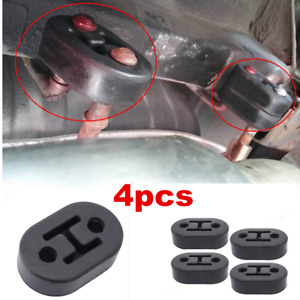 4pcs Universal Car Accessories Rubber 2 Hole 11.5mm Exhaust Muffler Hanger