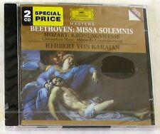 BEETHOVEN / MOZART - MISSA SOLEMNIS / KRONUNGSMESSE - KARAJAN - 2 CD Sigillato