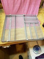 Tqvai Expandable Kitchen Drawer Silverware Utensils Organizer Mesh Cutlery Tray
