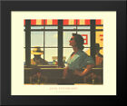 A Date with Fate 24x20 Black Wood Framed Art Print by Jack Vettriano