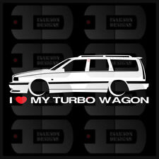 I Heart My Turbo Wagon Sticker Decal Love Volvo Turbo Brick Slammed Euro Sweden