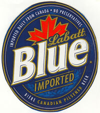 LABATT BLUE BEER LABEL T SHIRT CANADA  SIZES SMALL-XXXLARGE (F