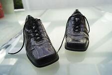 Rôdeur Femmes Comfort Chaussures Chaussure lacée cuir verni taille 4 H 37 aubergine #59