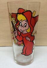 """Vintage Harvey Cartoons '73 Pepsi Wendy The Good Witch 6.25"""" Glass White Letters"""