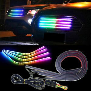4x 60cm Knight Rider RGB LED Strip Scanner Light Glowing Bar Multicolor Net Lamp