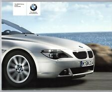 BMW 6-Series Coupe & Convertible E63 E64 2004-05 UK Market Sales Brochure