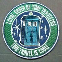 """Doctor Who """"Loyal Order Of Time Travelers"""" Embroidered Patch -new"""