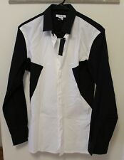 Helmut Lang Colorblock Button Down Shirt Size Small Brand New