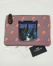 COACH x Disney Snow White Turnlock Pouch 26 Dark Fairy Tale Case 33053 NWT
