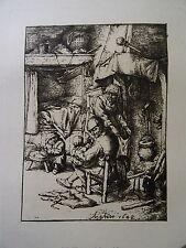 Adriaen VAN OSTADE (1610-1685) PERE FAMILLE HELIOGRAVURE AMAND DURAND HOLLANDE