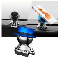 360° Rotation Hat Man Car Magnetic Holder Mount Dashboard For Mobile Phone N4T5