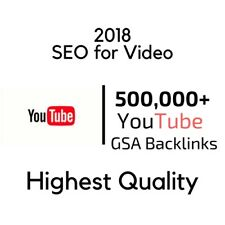 500,000 Gsa HQ Backlinks To Your Youtube Video For SEO | SEM | SERP | BEST VALUE
