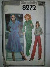 Jacket Pants Skirt Track Size 14 Simplicity Pattern 8272 Cut Complete Vtg 70's