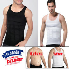 20f5efc9359 Mens Body Shaper Slimming Compression Vest Shirt Belly Trimmer Tummy  Underwear