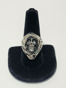 Grim Reaper Size 10.5 Stainless Steel Biker or Gothic Ring