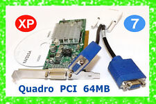DUAL VGA MONITOR PCI Windows 7 Video Card with adapter as pictured NVIDIA Quadro