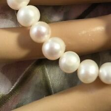 Vintage Genuine Pearl Bracelet with Sterling Silver Heart Charm fits small wrist