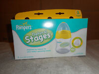 Pampers Natural Stages  pack of Three  5oz Bottles New  Sealed  Stage One