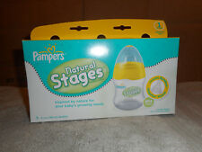 Pampers Natural Stages Three Pack of  5oz Bottles Stage One New in Package.