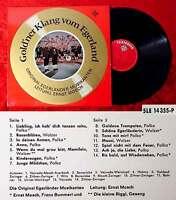 LP Ernst Mosch & Original Egerländer: Gold´ner Klang vom Egerland (Telefunken) D