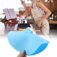 Silicone Boil Over Spill Lid Preservation Pan Cover Oven Safe Stopper Pot Lid