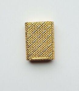 18 karat gold pill box with woven design