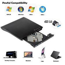 USB 3.0 Externes DVD/CD Writer Brenner Laufwerk für Laptop Notebook Slim Schwarz