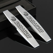 2pcs Car Metal chrome Fender Badges Emblems Decal Sticker For MS sports Racing