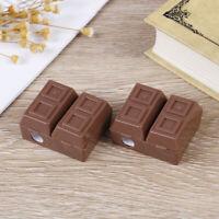 2Pcs creative chocolate plastic pencil sharpener with eraser writing statione Hw