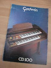 Godwin Orgel CD100 Organ CD 100 Organs Keyboard Werbung Prospekt Beschreibung