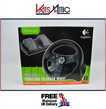 Xbox Logitech Precision Vibration Feedback Steering Wheel & Pedals NEW