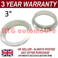 "V-BAND CLAMP STAINLESS STEEL EXHAUST TURBO HOSE REPLACEMENT FLANGES 3"" 76mm"