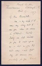 Autographed Letter Signed by Richard Mansfield: English Shakespearean Actor