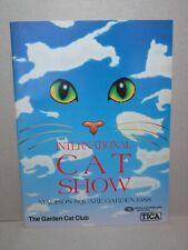International Cat Show Madison Square Garden New York 1988 Cat Fancy Program