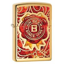 Collectable JIm Beam Stamp Fusion High Polished Brass Zippo 29319