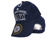 U.S. The United States Navy Not Self But Country Emblem Crest Seal Cap Hat