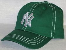New York Yankees Polo Style Cap ~CLASSIC MLB PATCH/LOGO ~KELLY GREEN ~OSFM ~NEW