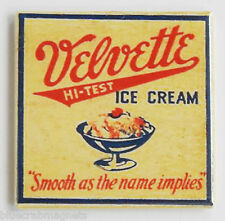 Velvette Ice Cream Fridge Magnet (2 x 2 inches) sign
