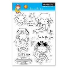PENNY BLACK RUBBER STAMPS CLEAR FUN IN THE SUN NEW clear STAMP SET