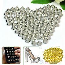 EG_ 100 Pcs 10mm Stud Round Spike Rivet Craft Bag Leather Craft Accessories Part