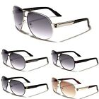 Premium Men's Fashion Aviator Sunglasses Retro Khan Designer Glasses Black Blue