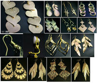 Gold Tone Fashion Earrings - Costume Jewellery - Pierced or Clip On - 13 Designs