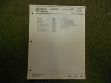 1989 VW Jetta Cruise Control Central Locking System Wiring Diagram MARCH OEM 89