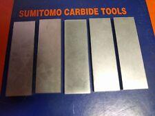 5x SUMITOMO Carbide Parting Blades, grade M3, size 3mmx15mmx50mm
