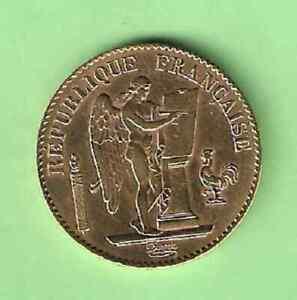 KF277   FRANCE        20   FRANCS   OR      GENIE      1893  A              RARE