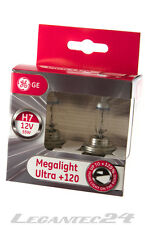 Set 2er h7 12 Volt 55 Watt px26d GE General Electric Megalight Ultra +120% 12v 55w