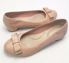 Women's Size 8 DANA BUCHMAN Nude Gold Accents Ballet Loafer Classy Fashion Shoes