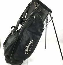 Callaway Golf ST System Stand Bag Dual Strap 6 Way 6 Pocket Black White Video