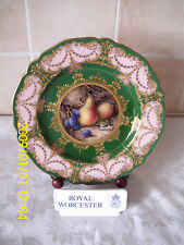 Royal Worcester Hand Painted Fruit Plate Signed Richard Sebright